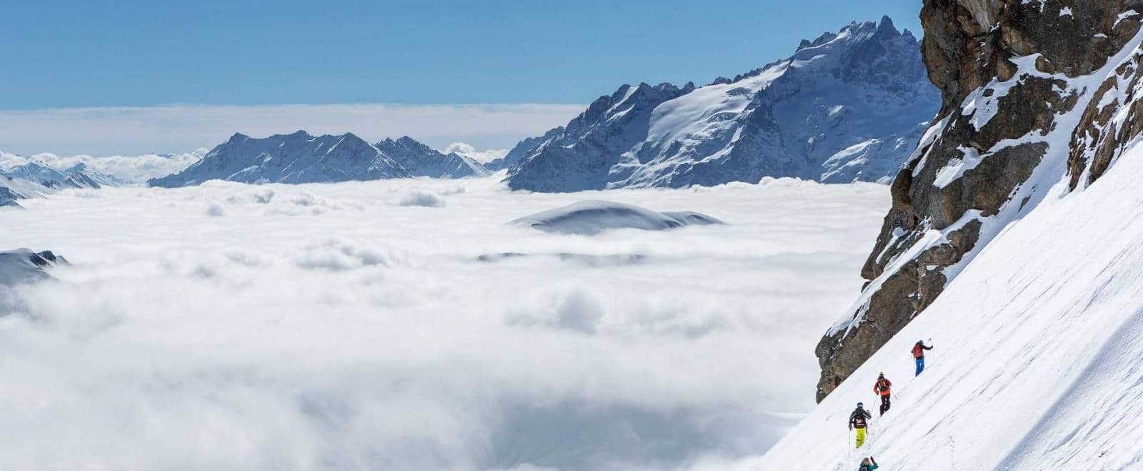 Journée Ski hors piste sur l'Alpe d'Huez - Face à la Meije